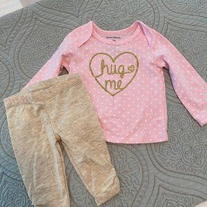 healthtex Matching Sets - Pink Polka Dot Hug me Set
